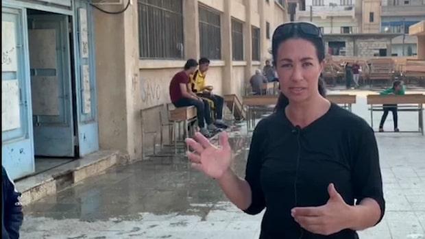 Magda Gad: Barnfamiljer bor på betonggolv efter ha flytt undan bomber