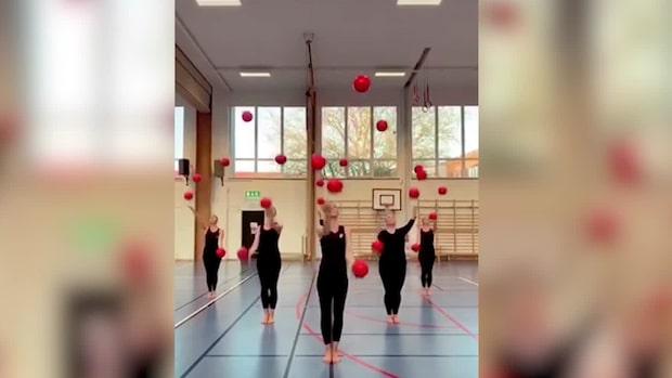 Gymnastikgruppen slår igenom på Tiktok – setts av tiotals miljoner