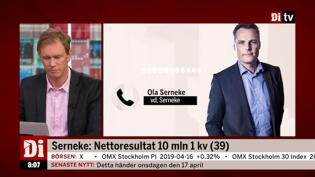 """Ola Serneke: """"Normalt sett svagare kvartal"""""""