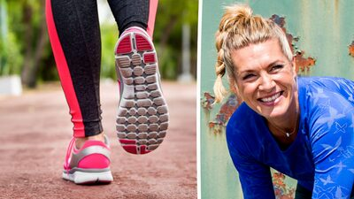 promenera gå ner i vikt
