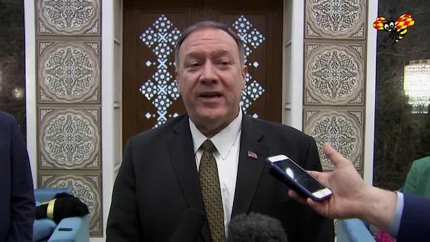 Mike Pompeo säger att USA vill ha en fredlig lösning med Iran