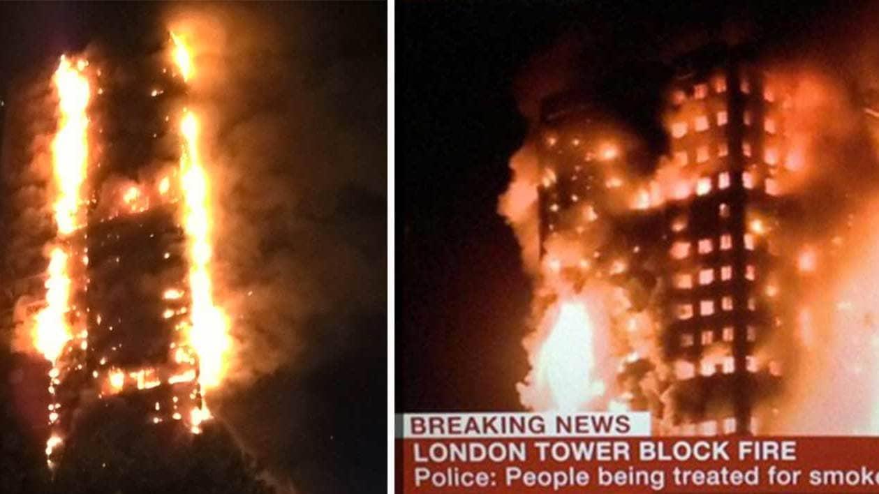 Flera doda i brinnande skyskrapa