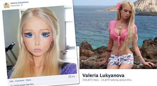 Valerie Lukyanova, 21, är tjejen som ser ut som en Barbie och som fått folk över hela världen att diskuterar hennes utseende.