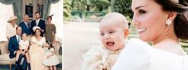 Varma bilden på Kate och lillprinsen från dopet