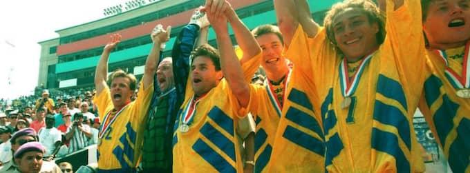 Sverige grävde guld, och fick brons, i Adidas-tröjor under VM 1994.