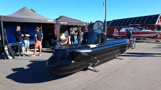 """Ubåten """"Harren"""" har tagit över 2 år att bygga. Jungfrufärden får vänta tills nästa år. Foto: Privat"""