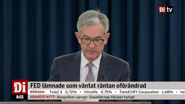 Fed lämnade som väntat räntan oförändrad