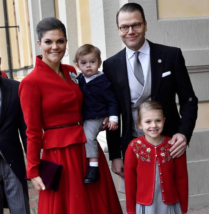 Kronprinsessfamiljen. Foto: JONAS EKSTRÖMER/TT / TT NYHETSBYRÅN
