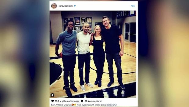 Wozniacki har hittat kärleken - i NBA-proffset