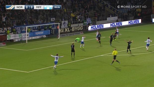 """Bakslag för MFF - IFK Norrköping tar ledningen i """"guldmatchen"""""""