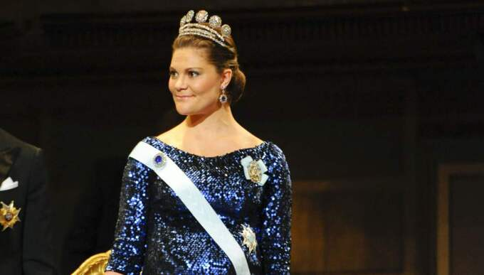 Victoria väljer svenskt på Nobelfesten. Foto: Henrik Montgomery / Scanpix