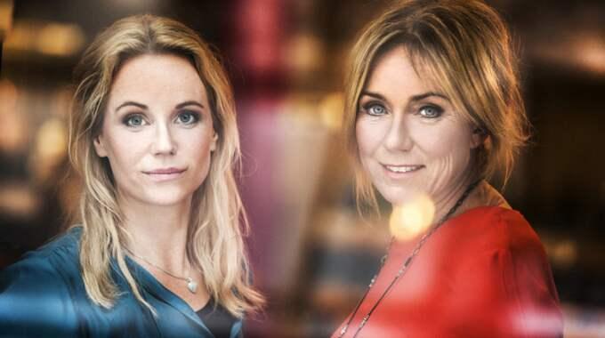 """Sofia Helin och Anne Lundberg leder programmet """"30 liv i veckan"""" på SVT. Foto: SVT"""