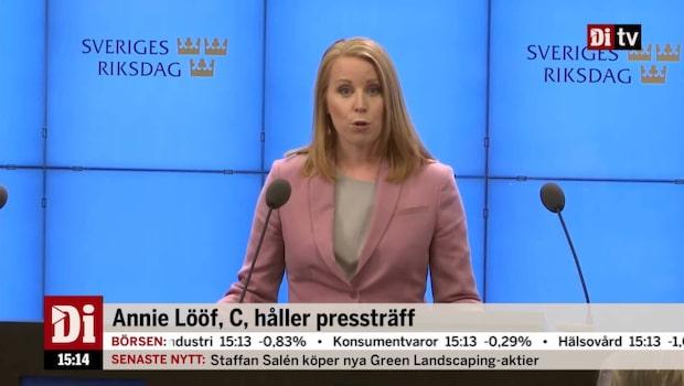 Så ska Annie Lööf genomföra sonderingsuppdraget