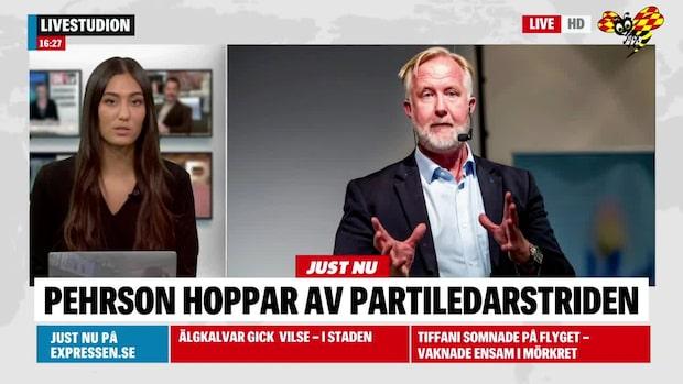 Johan Pehrson drar sig ur Liberalernas partiledarstrid