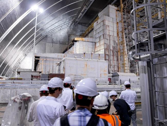 Journalister på besök i reaktor 4, juli 2019.