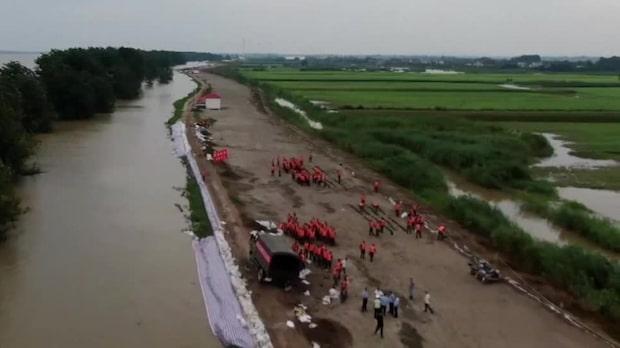 2 miljoner på flykt från översvämningar i Kina