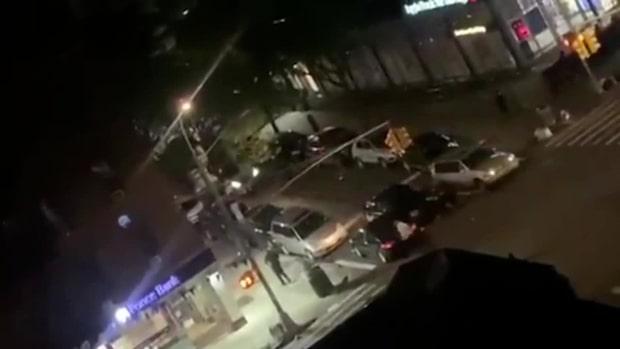 Här blir polisen överkörd • Varning för starka bilder