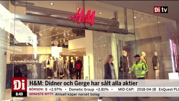 """Ägarförsäljningar i H&M: """"Är det något som knakar i familjen?"""""""
