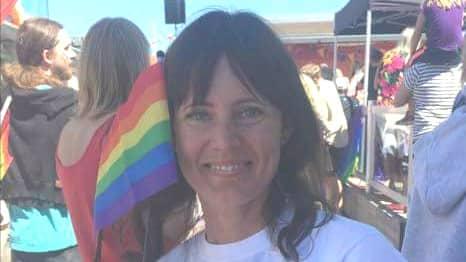 Karin Sandström, styrelseledamot i föreningen Öckerö Pride. Foto: Privat