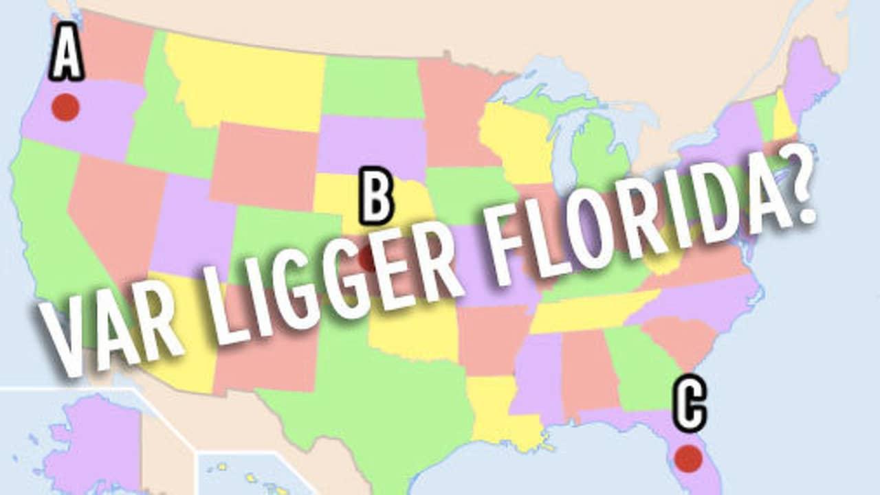 Geografitest Kan Du Placera Usa S Stater Pa En Karta