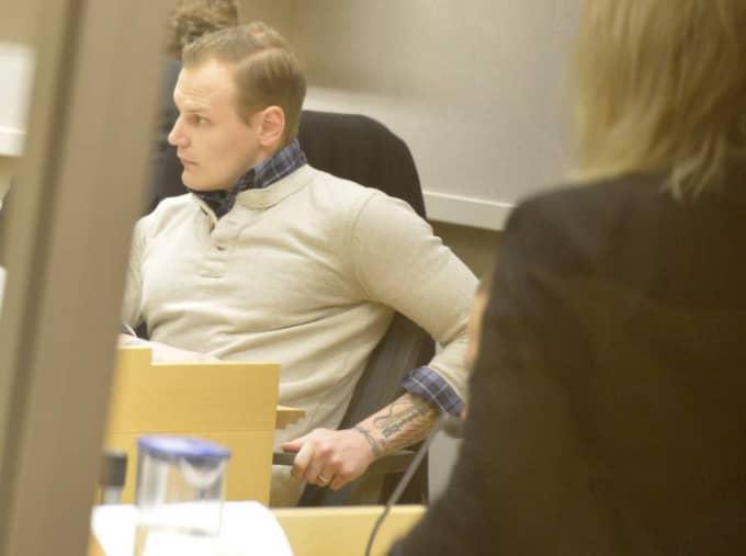 Emil Hagberg i rättssalen. Foto: Roger Vikström