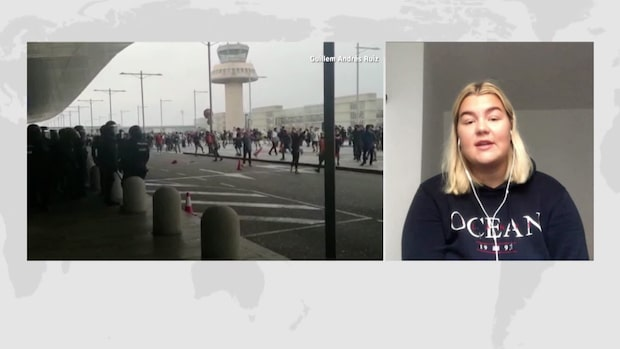 """Michelle, 19, boende i Barcelona: """"Otrygg stämning"""""""