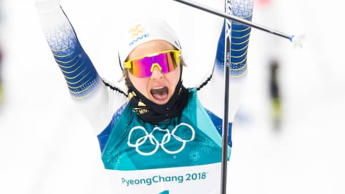 Stina Nilsson tog hem OS-guldet i sprint. Foto: PETTER ARVIDSON / BILDBYRÅN