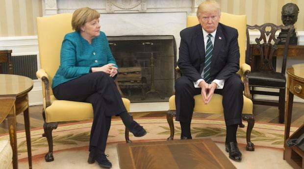 Trumps biljonräkning – till Angela Merkel