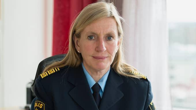 Carin Götblad är regionpolischef för region Mitt. Foto: SEBASTIAN LINDBERG
