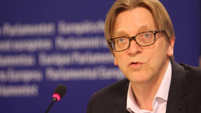 Guy Verhofstadt, ordförande i den liberala gruppen ALDE i Europaparlamentet.