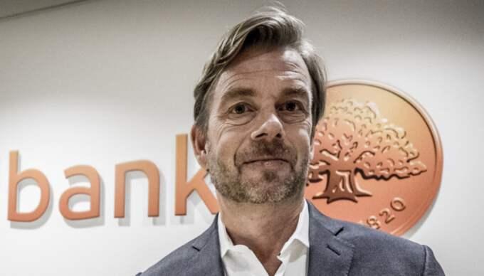 Michael Wolf sparkades hastigt som vd för Swedbank. Foto: Magnus Hjalmarson Neideman/Svd/Tt