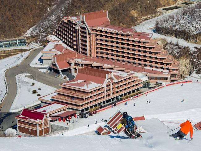 Skidorten Masikryong har nio nedfarter, fyra liftar – och inga köer.