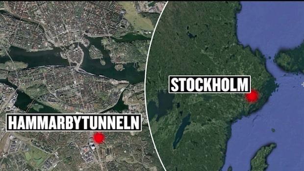 Motorcykel kraschade i tunnel