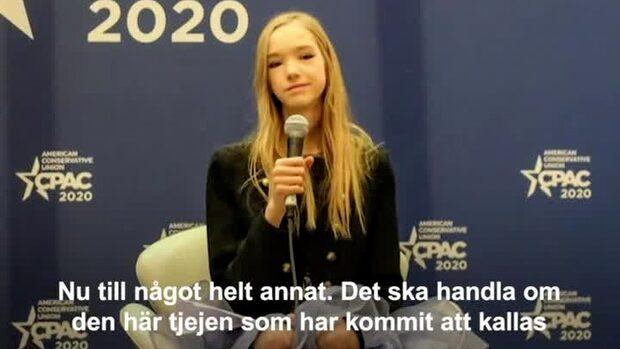 """Naomi, 19, kallas för """"Anti-Greta"""""""