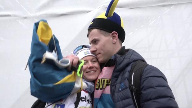 """Majas pojkvän: """"Jag grinade hela finalen"""""""