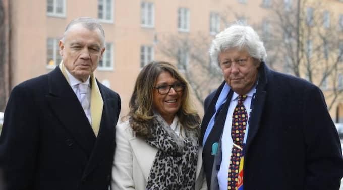 Björn Rosengren, Karin Elfving och Ulf Elfving. Foto: TOMMY PEDERSEN