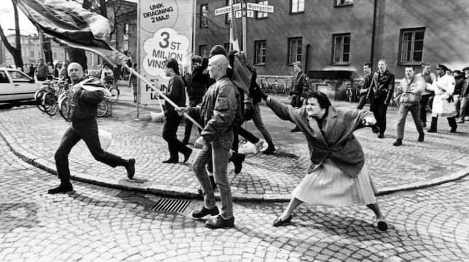 Danuta Danielsson ogillade bilden – som togs i Växjö 1985 – och ville aldrig tala om händelsen, enligt en anhörig. Foto: Hans Runesson
