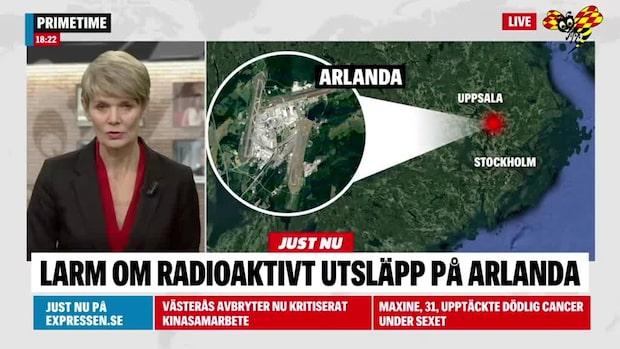 Larm om radioaktivt utsläpp på Arlanda