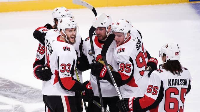 Ottawa vann efter förlängning. Foto: ERIK SIMANDER/TT / TT NYHETSBYRÅN