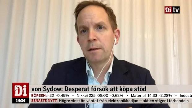 von Sydow: Desperat försök att köpa stöd