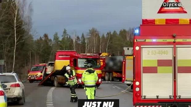 Två döda i olycka på E20 vid Mariestad