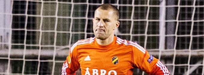 AIK-målvakten Ivan Turina avled under natten. Foto: Nils Petter Nilsson