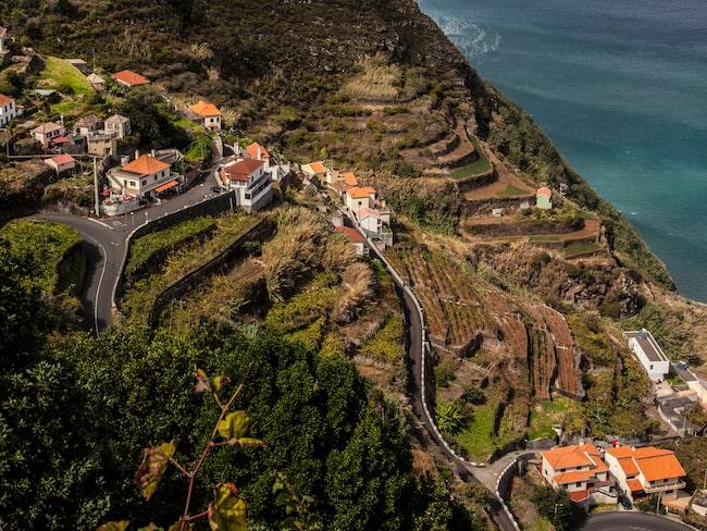 På Madeiras norra sida bor inte så många människor, vädret är tuffare men landskapet underskönt.