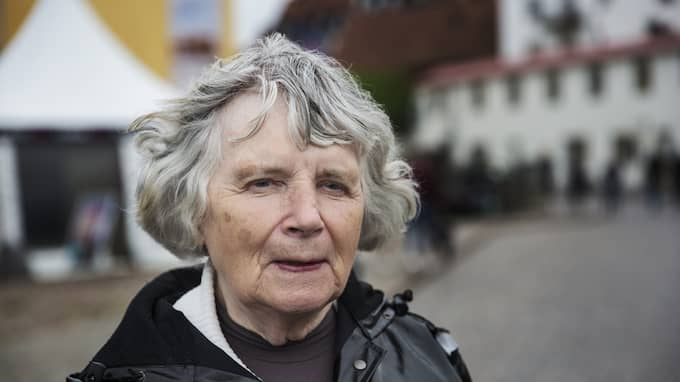 Nazisten Vera Oredsson, 89, under Alemdalsveckan i Visby tidigare i år. Foto: LISA MATTISSON