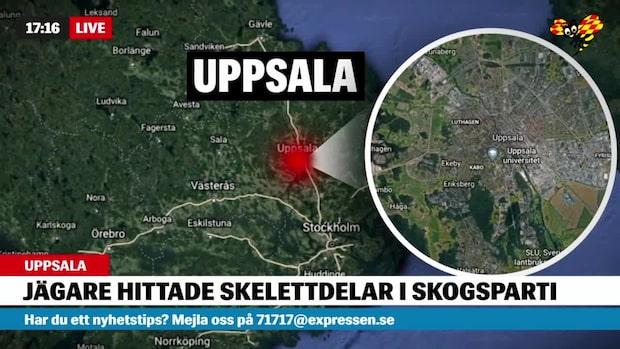 Skelettdelar hittade i Uppsala – mordutredning inledd