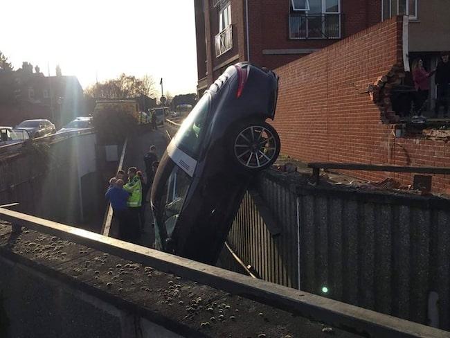 """""""Wow, och jag tyckte att jag parkerade dåligt"""" var Essexpolisen Colin Sheads kommentar."""