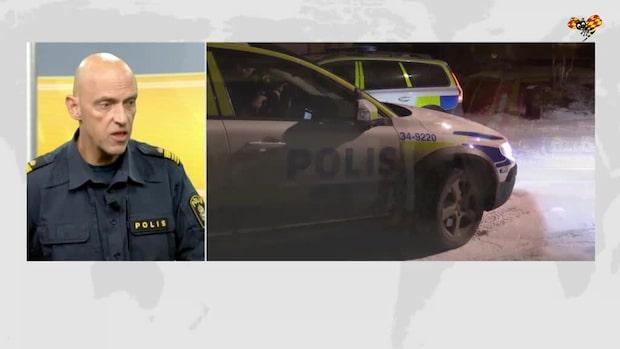 Polischefens bil sprängdes vid hans bostad