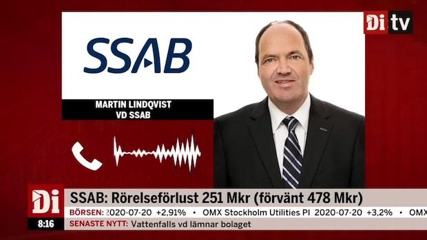 SSAB:s vd: Specialstål räddade kvartalet