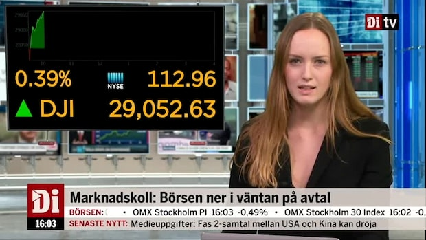 Di Kvällskoll: USA-börserna handlas svagt upp i väntan på fas ett-avtalet