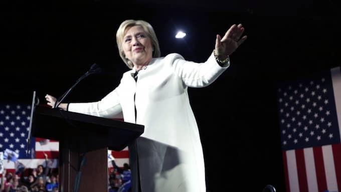 Hilary höll sin valvaka i Miami i Florida, en stat som inte valde under Super Tuesday utan får till val först om två veckor. Foto: Gerald Herbert